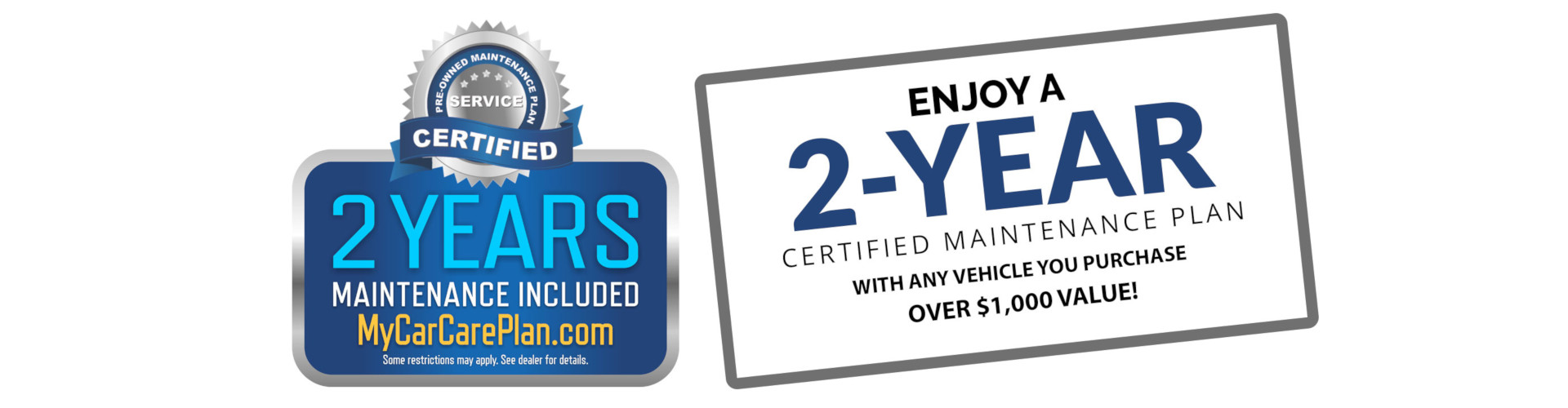 2 Year Warranty offered on all vehicles